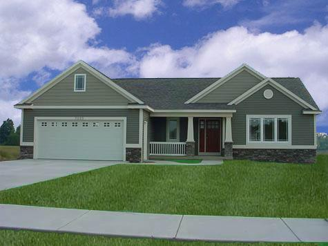 Captivating colonial style ranch house plan birchwood for Ranch style dream homes