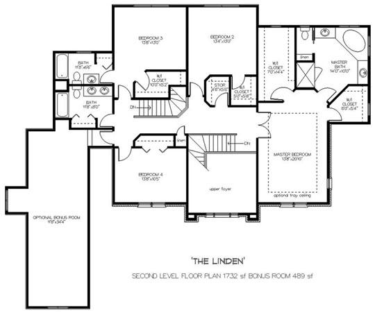 Custom home builders johnson building group for Upstairs floor plans