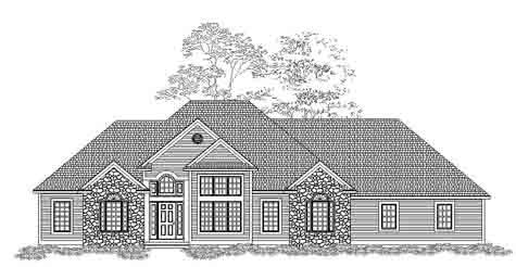 Glamorous Traditional Style Ranch House Plan Cotswold A