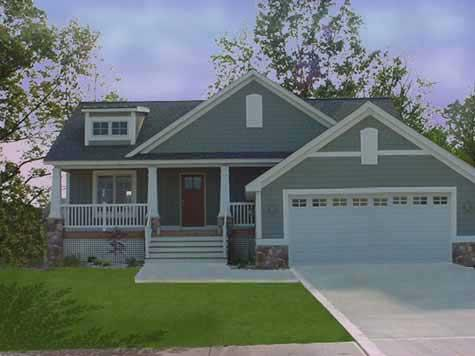 Attractive traditional style bi level house plan foxcroft Types of split level homes