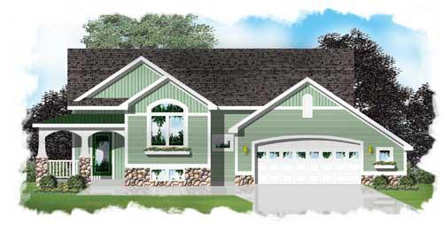 Alluring arts and crafts style bi level house plan ledoux for Holland house design
