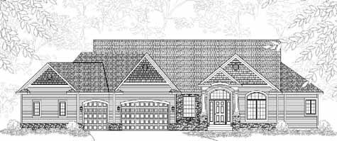 Alluring traditional style ranch house plan marquette for Holland house design