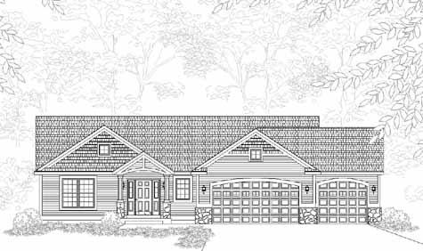Fascinating traditional style ranch house plan savannah for Holland house design